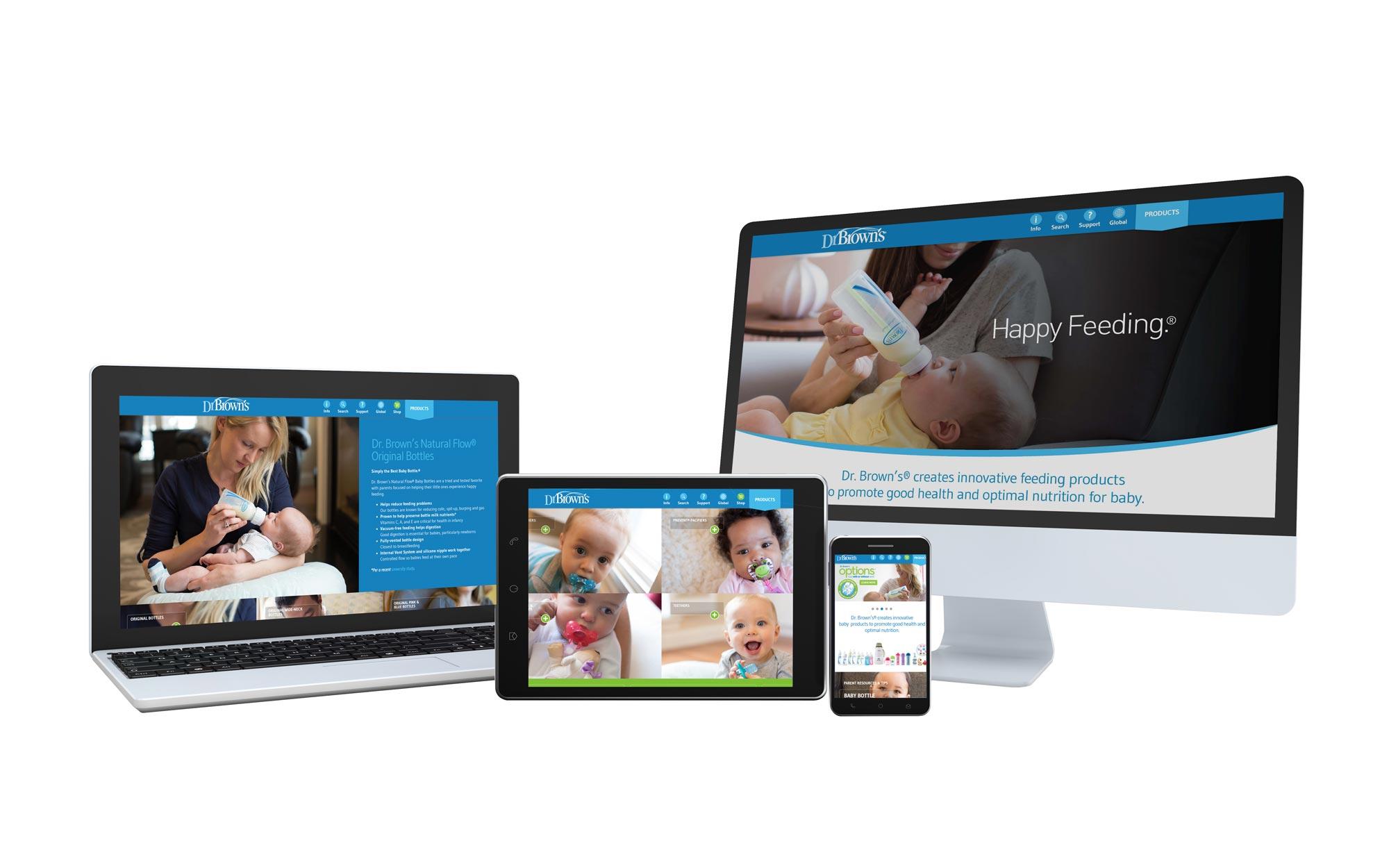 dr brown's website design