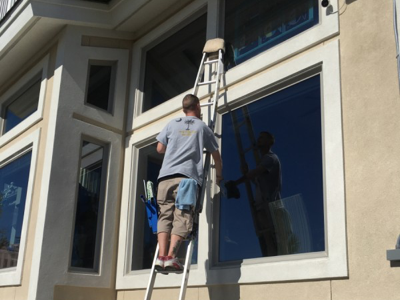 window cleaning the old fashioned way
