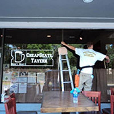 store front window cleaning in hilton head