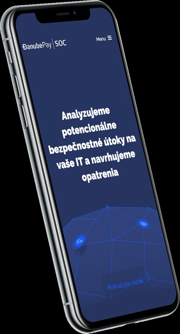 Webová stránka na mobile