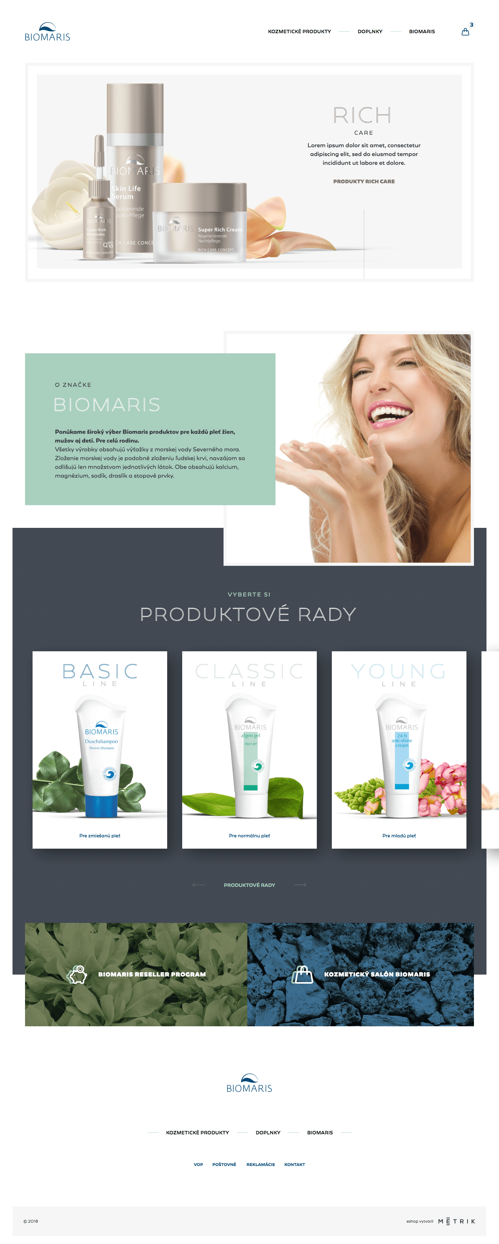 Webová stránka klienta