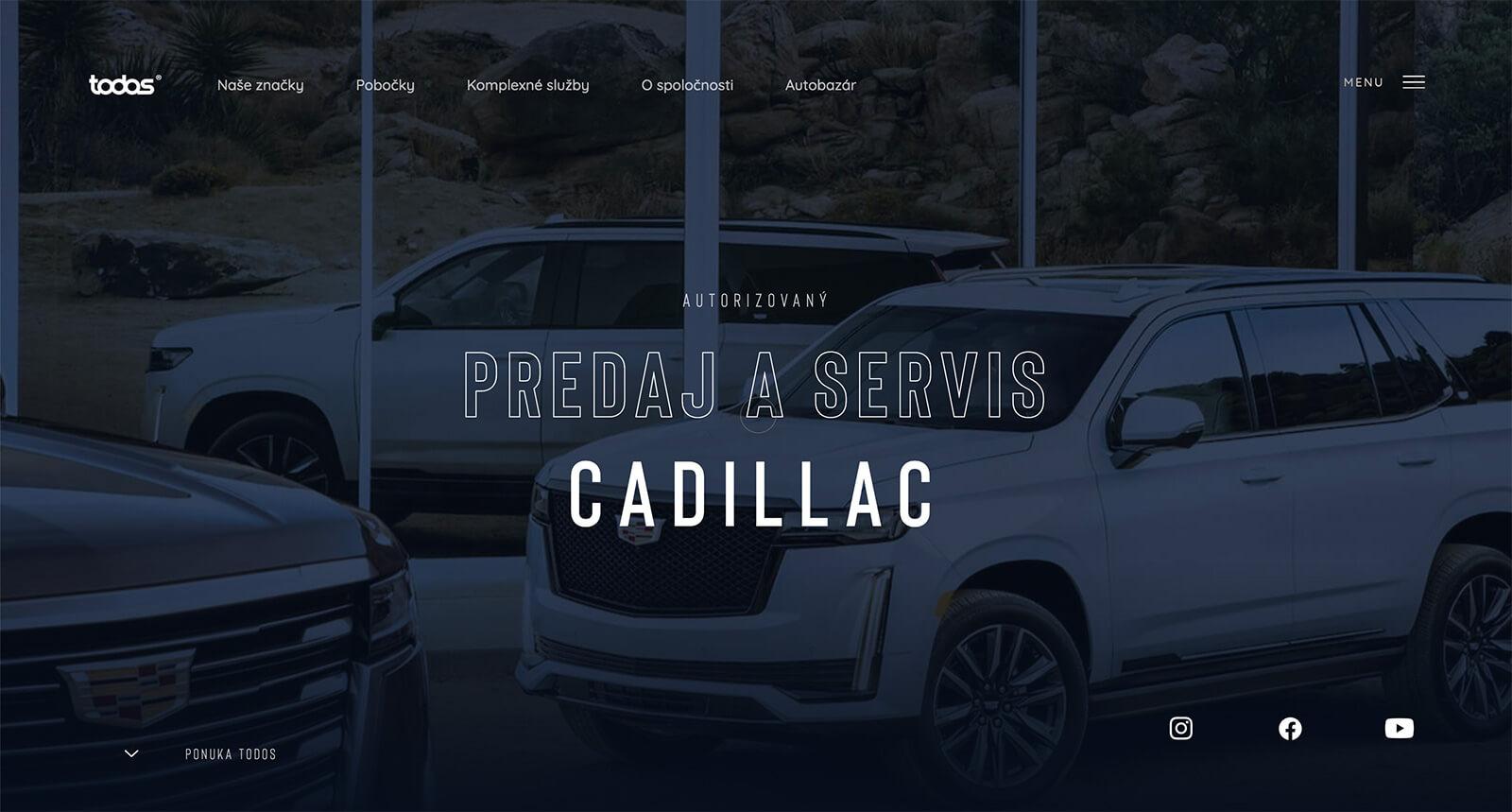 Todos projekt - dizajn webových stránok