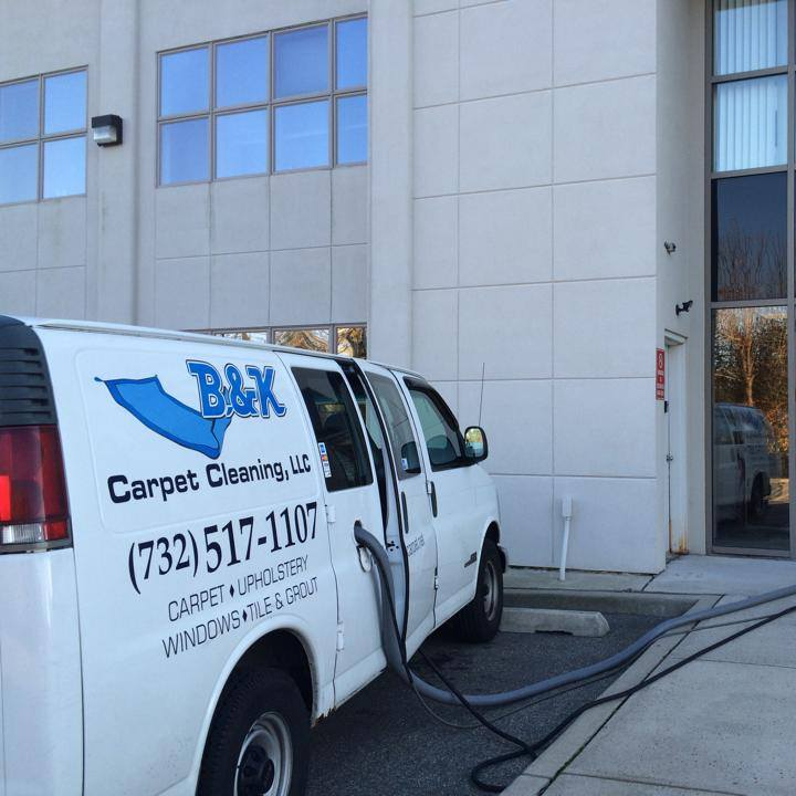 b&k carpet cleaning van