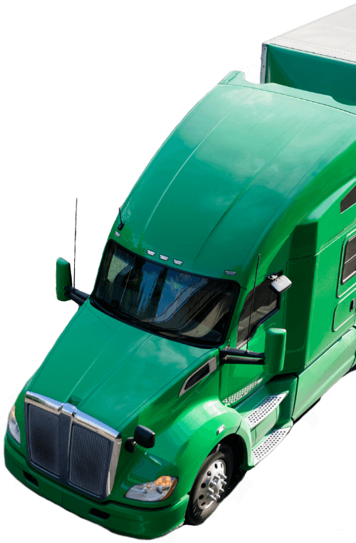 Green van Freight Truck
