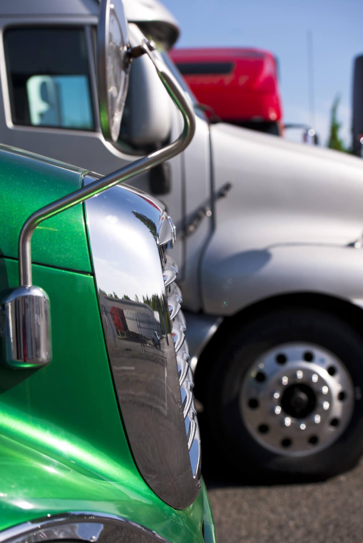 Front of semi trucks