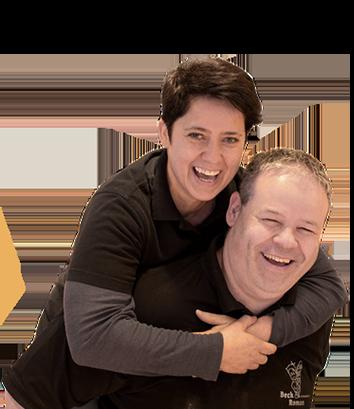 Astrid Immler und Roman Lüönd Geschäftsleitung Beck Roman, Ibach