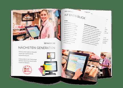 Broschüre mit Kassen Lösungen von HS-Soft