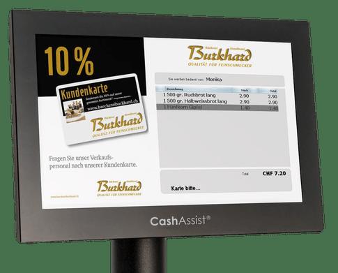 Kundenkarte Werbung - mehr Verkauf mit Kassenlösung CashAssist