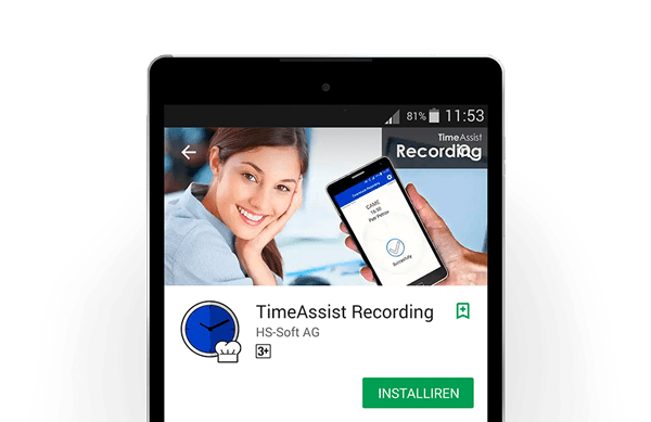 TimeAssist Zeiterfassung App in Action