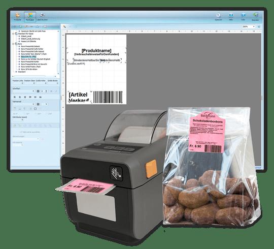 Etikettierungslösungen für Bäckerei