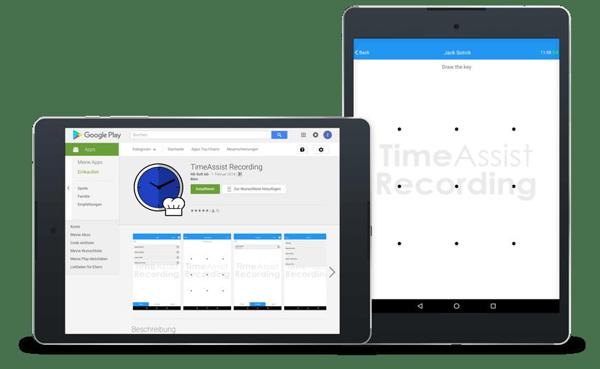 TimeAssist Recording macht aus Ihrem Android-Smartphone oder Tablet ein modernes Zeiterfassungsgerät