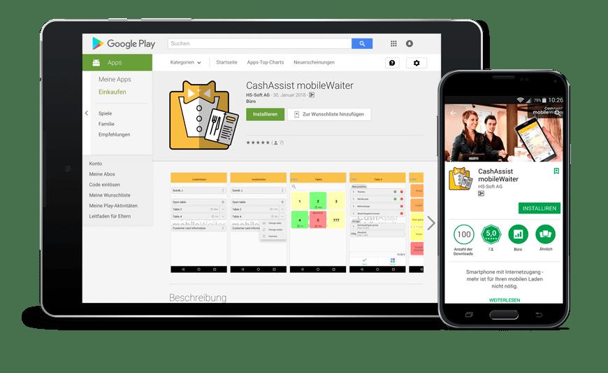 Smartphone App für Café Bestellung - mobileWaiter