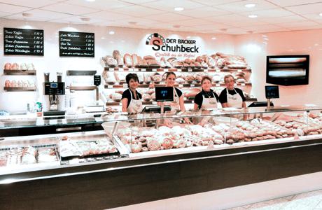 Der Bäckerei Schuhbeck mit dem HS-Soft Kassen Kundendisplay