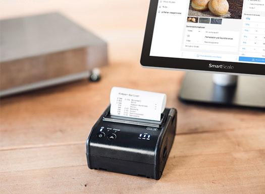 Rezepturverwaltung smartScale mit über einen Drucker wird ein Report mit den bereits erledigten Arbeit