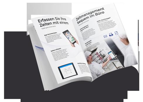 PDF Flyer mit TimeAssist Zeiterfassungssystem von HS-Soft