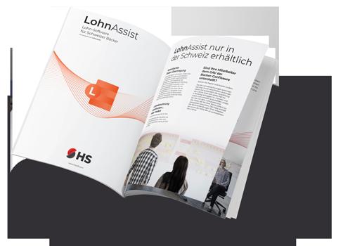 PDF Flyer mit LohnAssist Software von HS-Soft