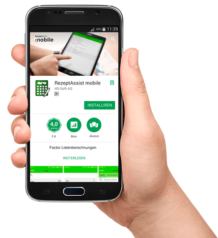 RezeptAssist mobile — Bäckerei Rezeptverwaltung App herunterladen