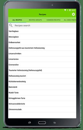 Tablet für RezeptAssist mobile App