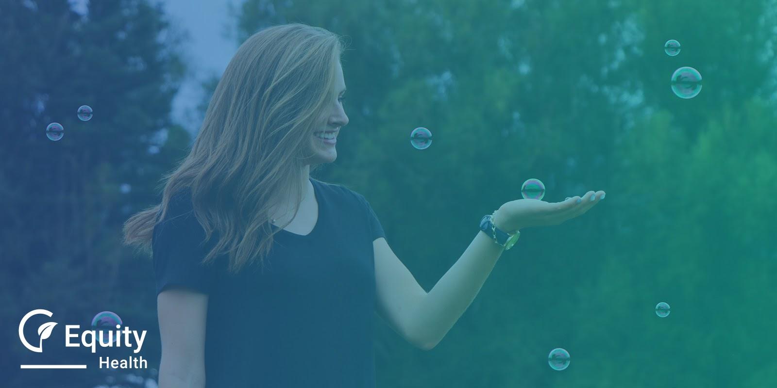 Vitality Customer Holding Bubbles