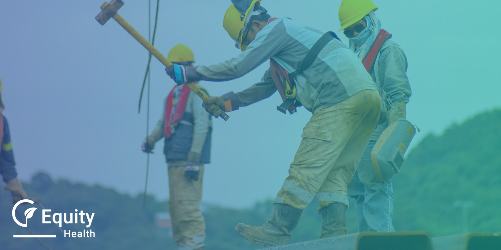 Building Industry Workers In Protective Gear