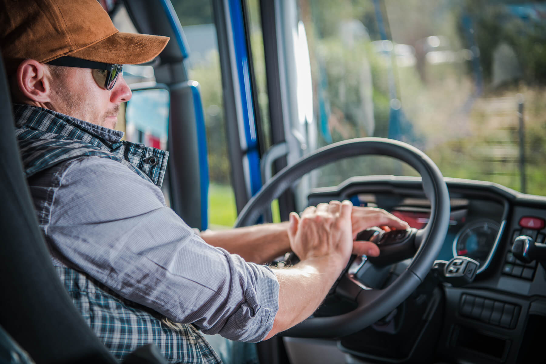 Truck Driver in Cab