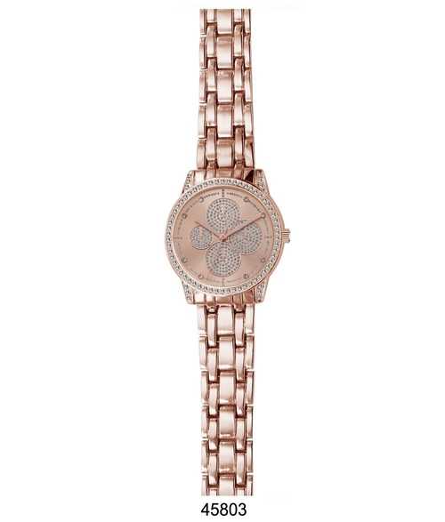Rose Gold Metal Band Watch, spocket
