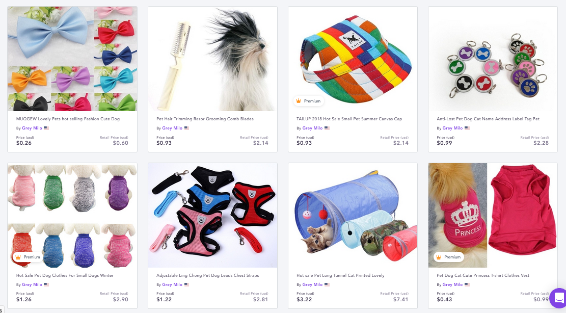 Pet products for dropshipping on Spocket