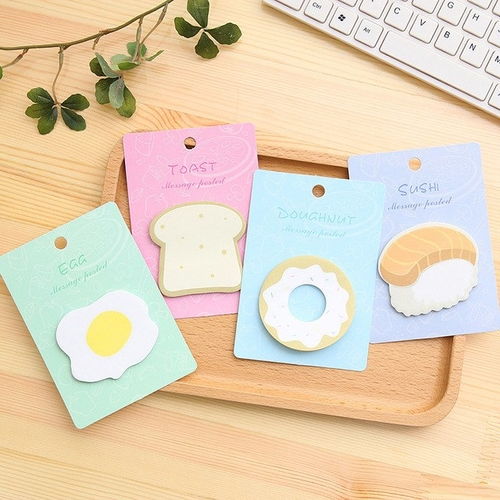 Creative Breakfast Food Memo Pads