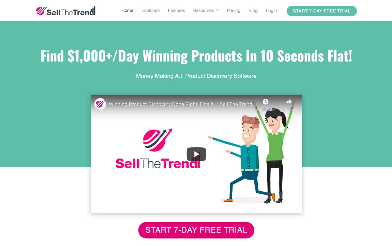 SellTheTrend Niche scraper software for finding trending products to sell