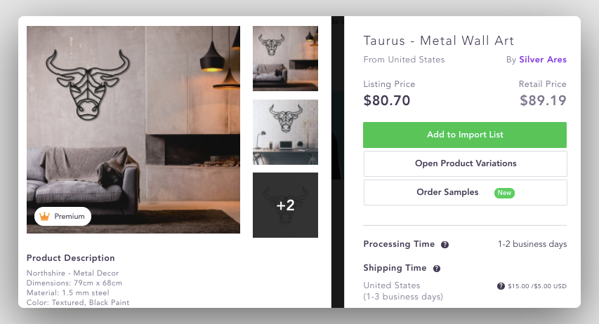 Dropshipping suppliers USA for high ticket dropshipping Abstract Home Decor