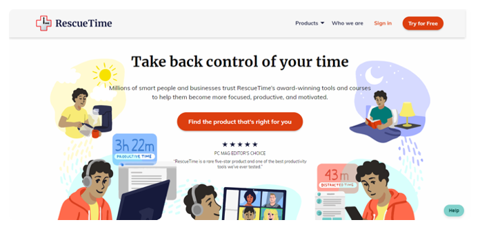 Rescuetime Free Time Management Tools