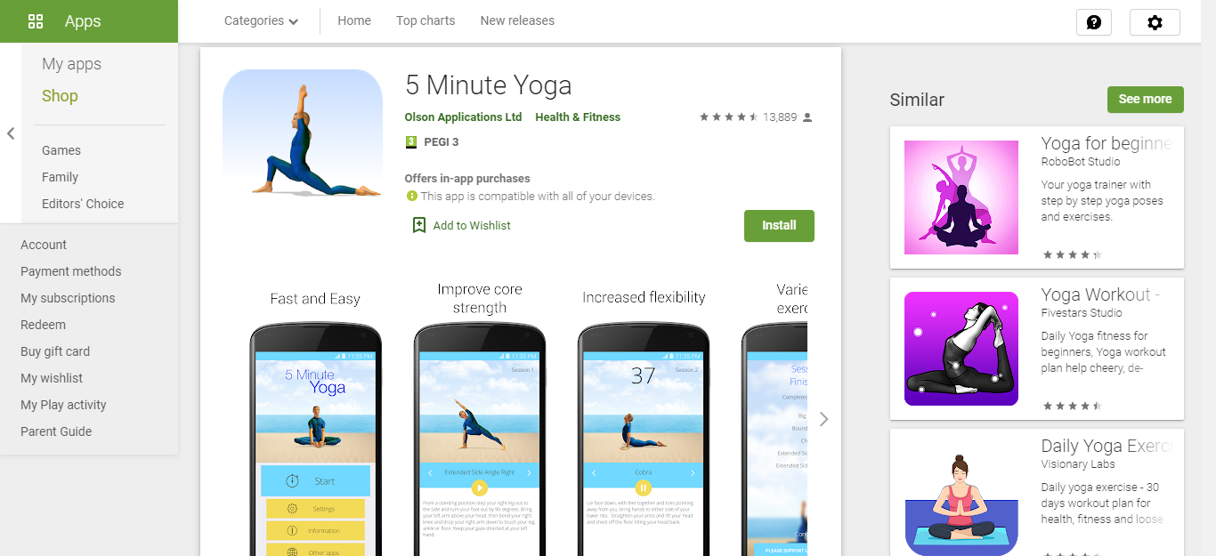5 minute Yoga Best self-care apps of 2020 for working remotely