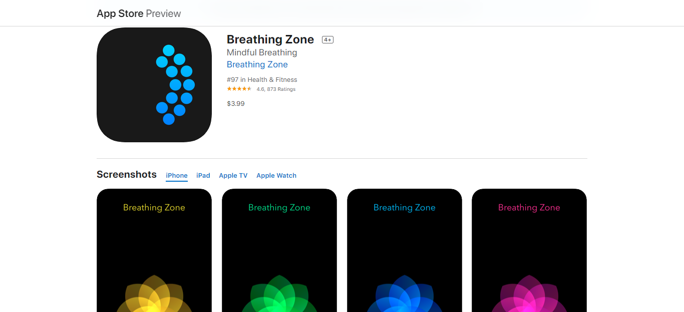 Breathing Zone Best self-care apps of 2020 for working remotely