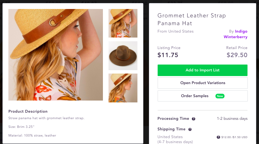 Best dropshipping products to sell 2020 panama hat