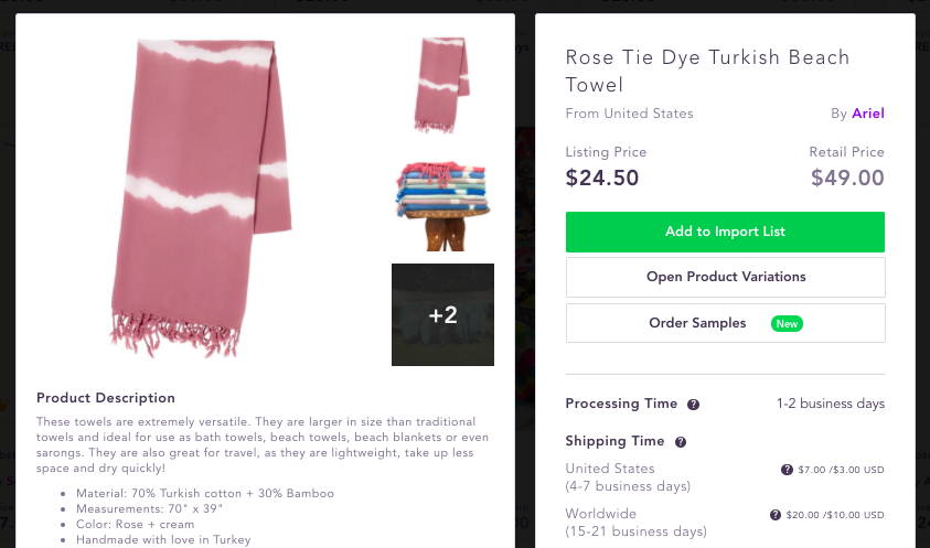 Best dropshipping products to sell 2020 Turkish Beach towel