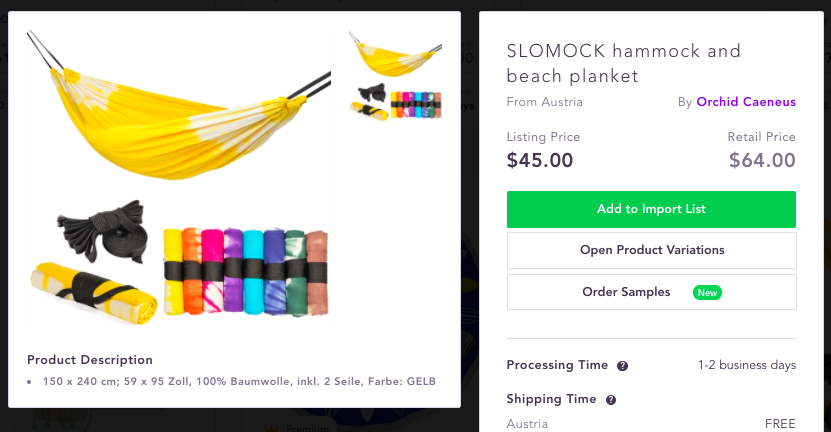 Best dropshipping products to sell 2020 Hammock beach towel