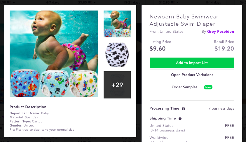 Waterproof diaper Best dropshipping products to sell 2020