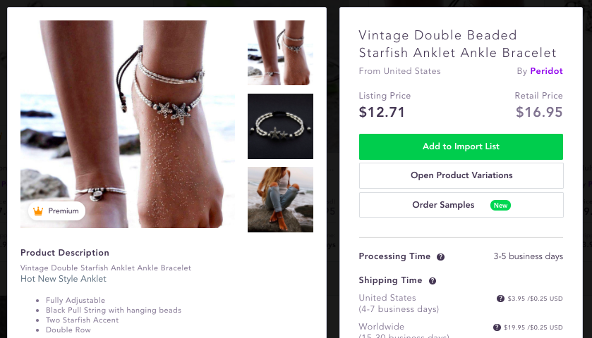 Summer jewelry Anklet - Best dropshipping products to sell 2020