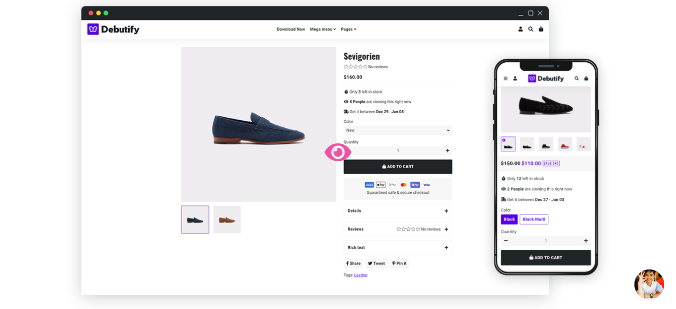 Debutify free shopify theme example