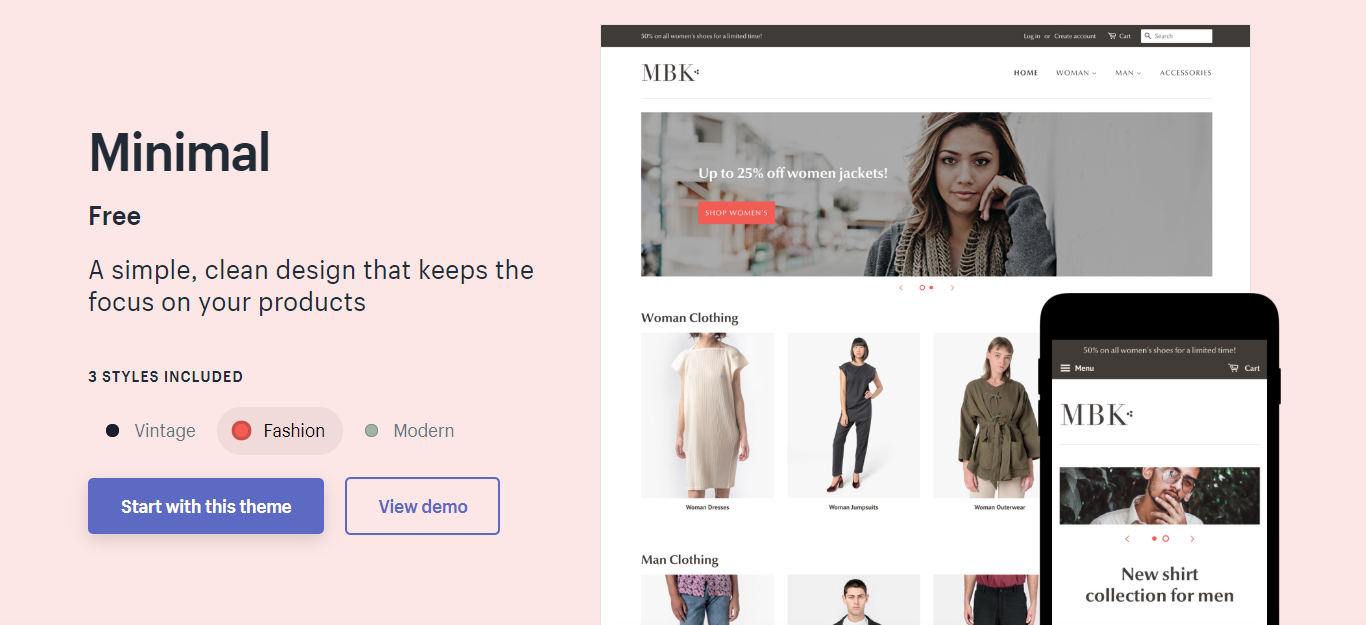 Minimal Best Shopify Theme