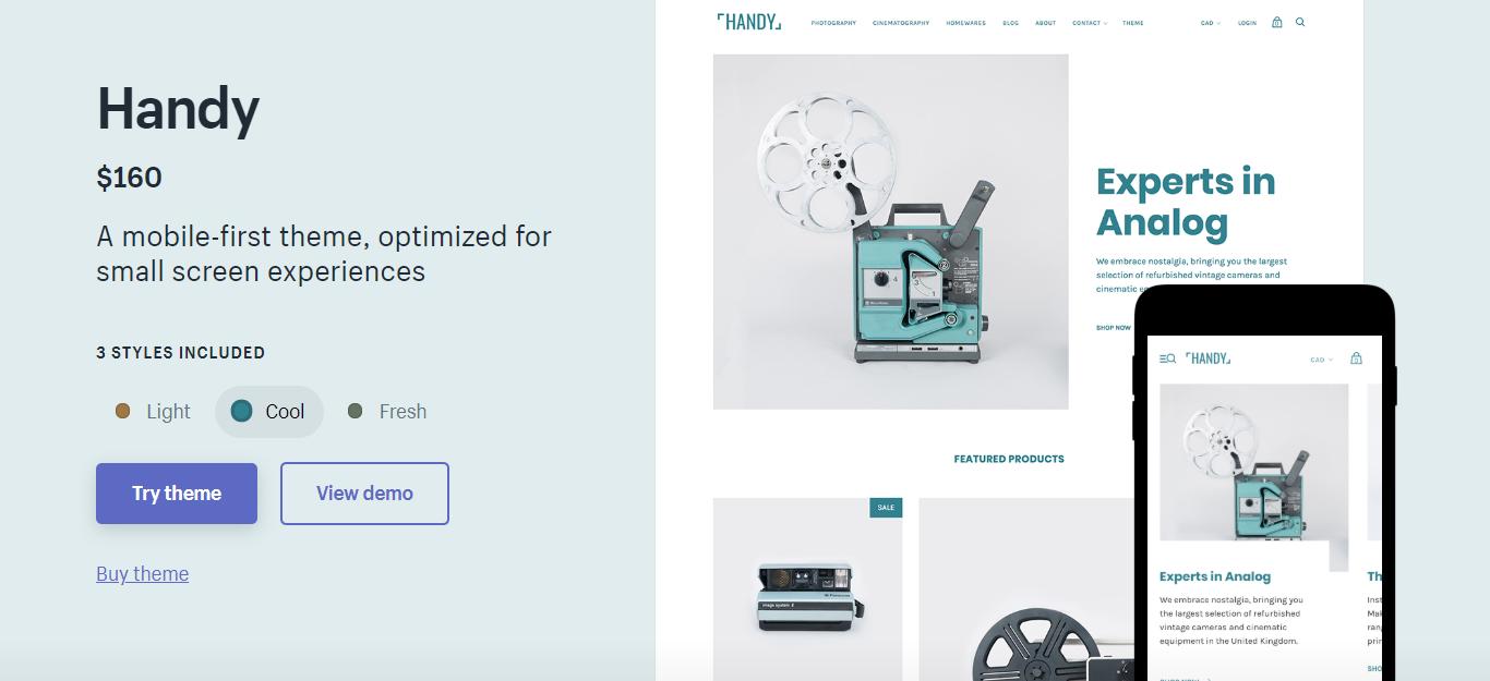 Handy minimal Shopify Theme