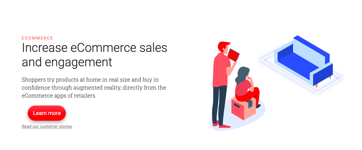 eCommerce trends augmented reality example