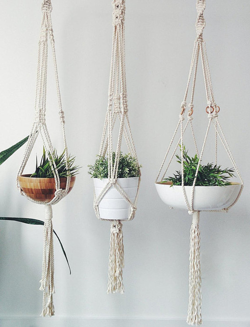 macrame plant hangers are a trending product in 2020