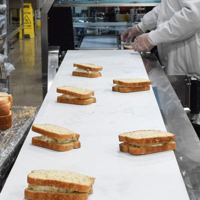 Assemble of sandwiches