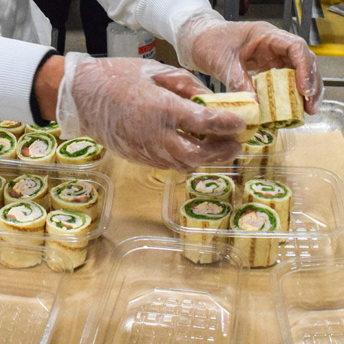 Wraps Being Packaged