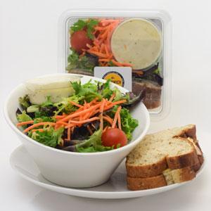 Turkey & American on Wheat Bread & Garden Salad Combo