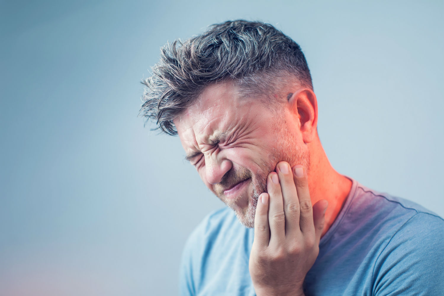 Patient with tooth pain