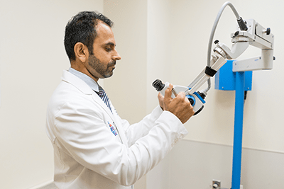 Dr. Khanna uses the most advanced equipment to diagnose and treat your Ear Nose & Throat problems.
