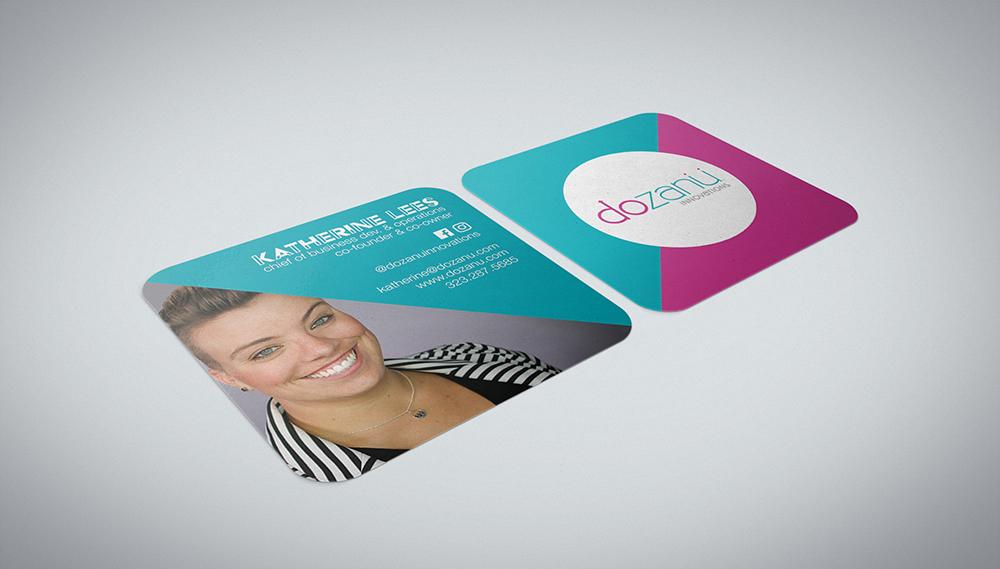 Dozanu Business Cards Mock Up