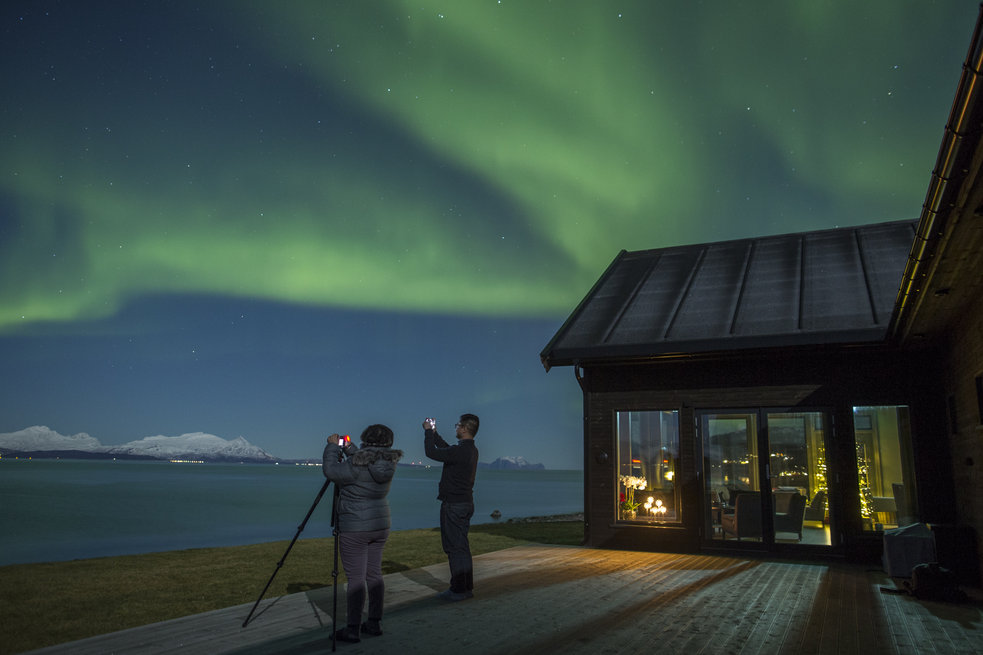 Premium Northern lights with Lyngen Experience Lodge